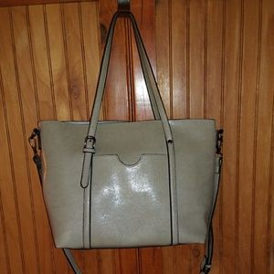 Handbags - Large Silvery Grey Leather Bag